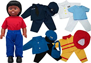 Get Ready Kids African American Boy Doll with Career Clothes Set
