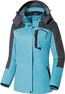 Wantdo Women's Hooded Windproof Raincoat Lightweight Waterproof Rain Jacket