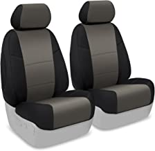 Coverking Custom Fit Front 50/50 Bucket Seat Cover for Select Toyota Tacoma Models - Neosupreme (Charcoal with Black Sides)