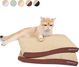 AMZNOVA Cat Scratcher Ramp, Inclined Corrugated Cardboard Kitty Scratching Pad Lounge with Bottom, Catnip Included