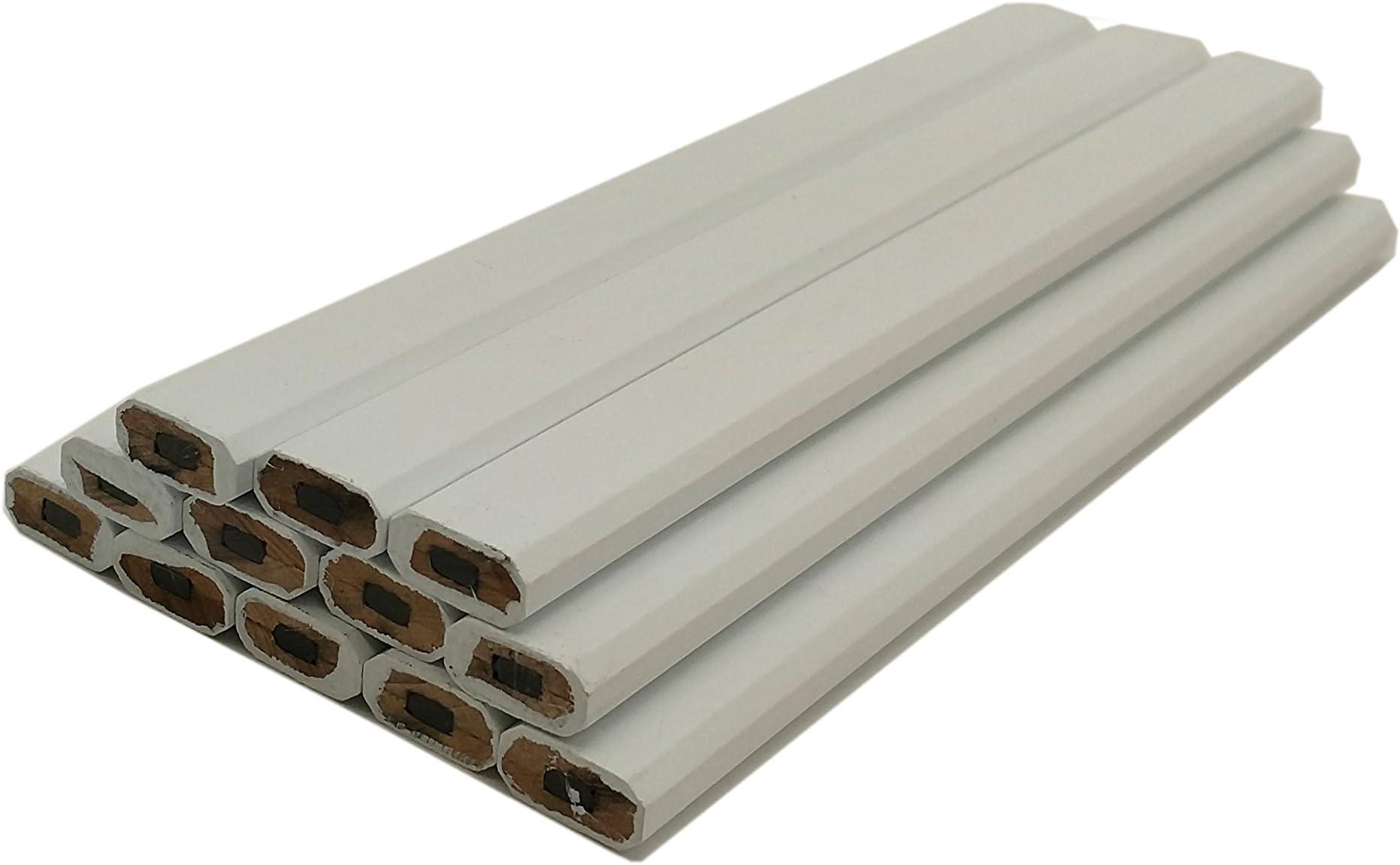 Impex Carpenter Pencils - 72pc Half Gross Set (Wholesale Bulk Lot of 72pcs) - White