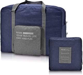 Travel Duffle Bag Unisex's Lightweight Waterproof Foldable Storage Carry Luggage Tote Bag, by Cloudin, (Blue)