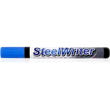 For Drawing on Steel and other Metals Wet Erase Removable Yellow Steelwriter Marker Pen