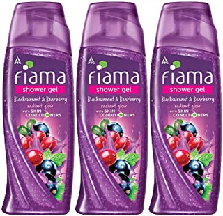 Fiama Shower Gel Blackcurrant & Bearberry for Radiant Glow, bodywash with skin conditioners, 250 ml (Combo pack of 3)