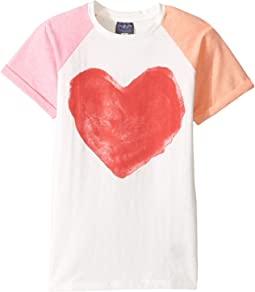 Toobydoo - Pink Heart T-Shirt (Toddler/Little Kids/Big Kids)