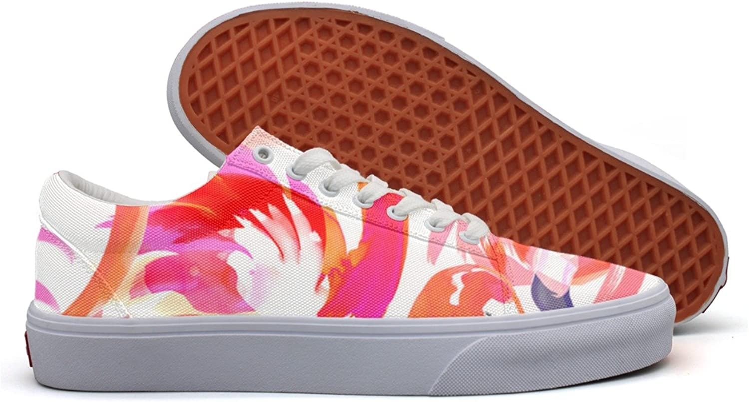 Women Flamingo Red Pink Comfortable Canvas shoes For Women