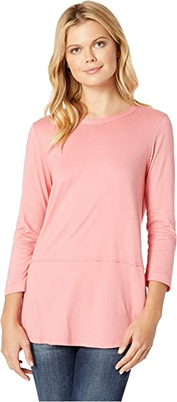 Deluxe Jersey Rounded Hem 3/4 Sleeve Tee