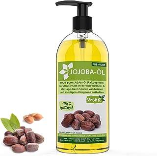 Aceite de jojoba prensado en frío de oro de 500 ml - 100%
