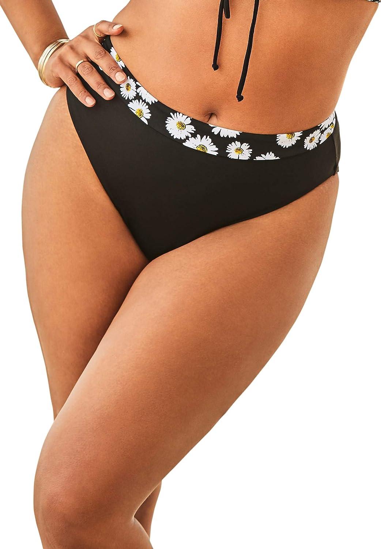 Swimsuits For All Women's Plus Size High Waist Bikini Bottom