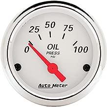 AUTO METER 1327 Arctic White Oil Pressure Gauge