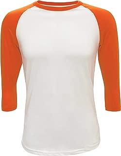 orange and white raglan
