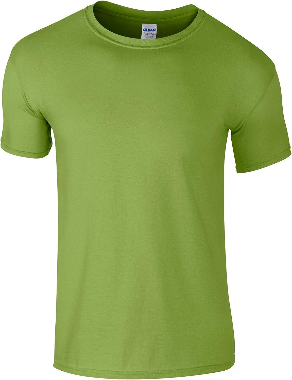 Gildan Childrens Unisex Soft Style T-Shirt (Pack of 2) (L) (Kiwi)
