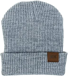 New Winter Hat Beanies for Men Women Fashion Knitted Winter Hat Winter Cap for Man Solid Hip-hop Skullies Hat Bonnet Unisex Cap Warm and Cozy (Color : Gray, Size : One Size)