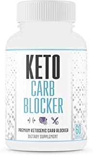 Max Strength Keto Carb Blocker 1200mg, Minimize Cheat Meals – USA Made - 60 Caps