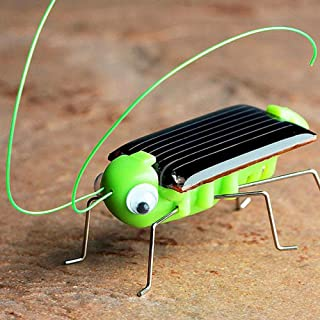 NszzJixo9 Educational Solar Powered Grasshopper Robot Toy Solar Powered Toy Gadget Gift Lint Body Good Touch Direct Light Can Be Shocked Solar Power Energy Toy