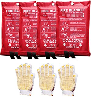 Fire Safety Blankets Fire Blankets Kitchen Emergency Fire Suppression Blanket Fire Guardian Blanket for Home Fireplace Car...