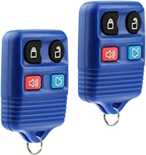 Key Fob Keyless Entry Remote fits Ford, Lincoln, Mercury, Mazda Mustang (Blue), Set of 2