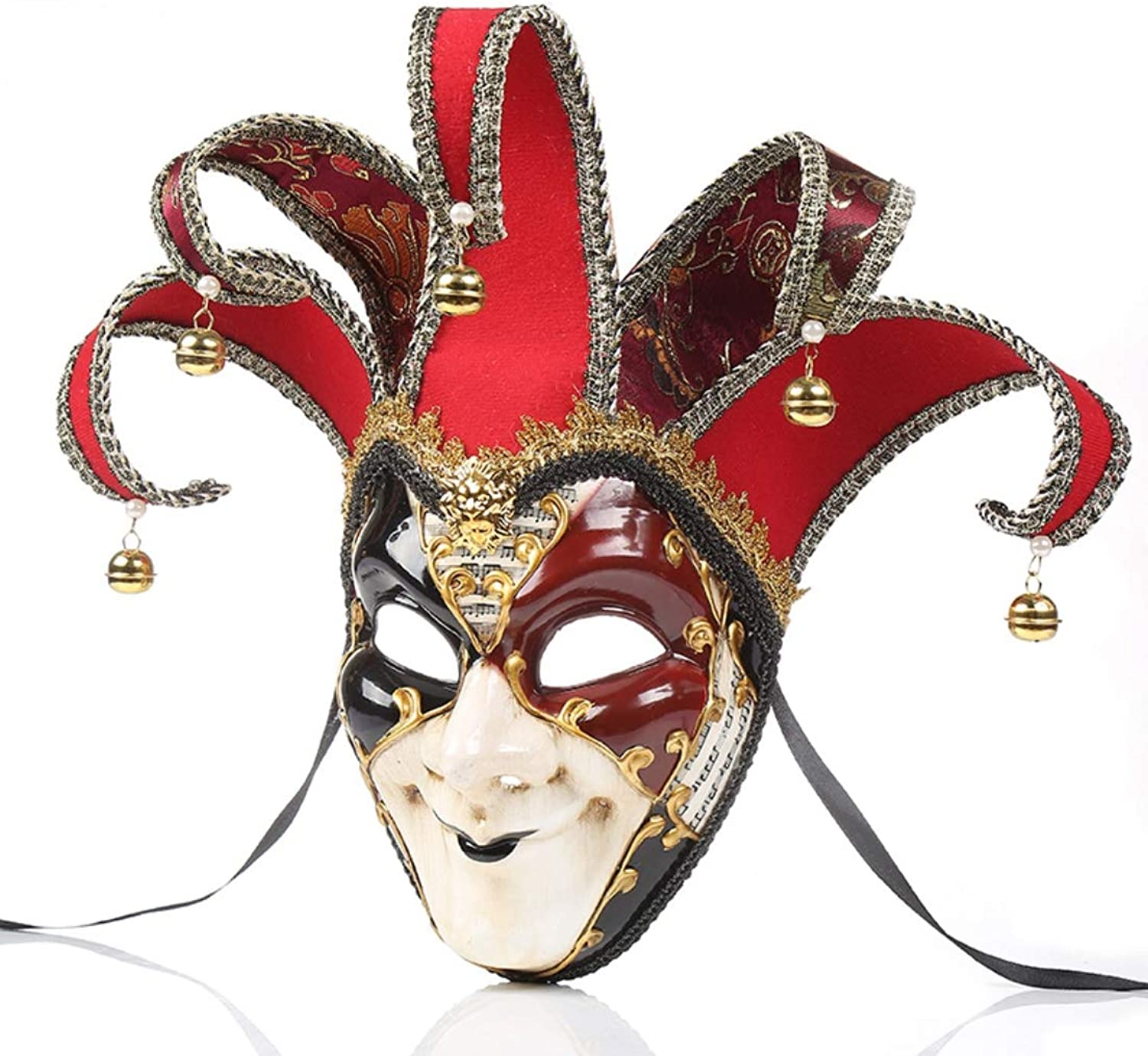 Roman Mask Men's Painted Dance Mask Available in Three colors Suitable for Masquerade Party Performance Festival Carnival, One Size