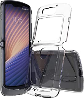 For Motorola Razr 5G Case, Ultra-Thin Transparent PC + Acrylic Shockproof Protective Cover Fold Phone Case,Clear