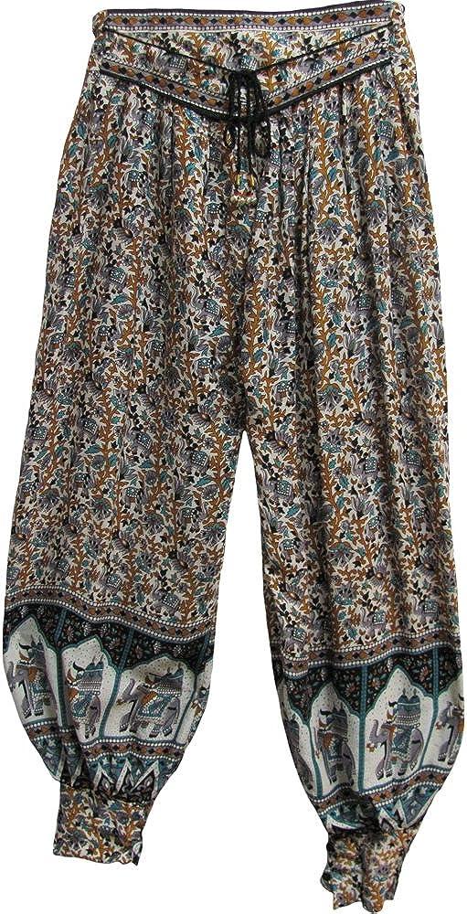Paisley Elephant Women/'s Harem Pants in Dark Red