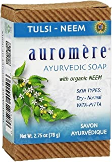 Soap-Tulsi-Neem Auromere Ayurvedic Products 2.75 oz. Bar Soap