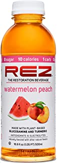 REZ Watermelon Peach 16.9 Fl oz No Sugar, Low Calorie, Low Carb, Immune Boosting, Keto, Diabetic Friendly Beverage with An...