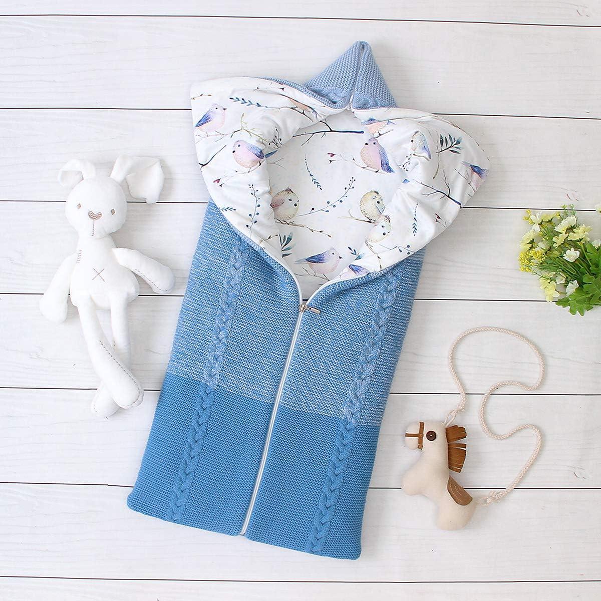 FAMKIT Sac de couchage multifonction réglable réglable pour bébé de 0 à 6 m Bleu