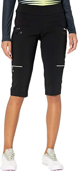 "Skinnylicious 24.5"" Knee Capris with Control Top Panel"
