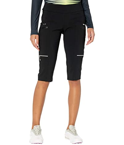 Jamie Sadock Skinnylicious 24.5 Knee Capris with Control Top Panel (Jet Black) Women