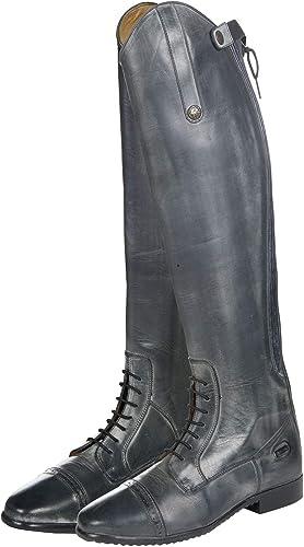 HKM Valencia Bottes d'équitation Noir gris 36