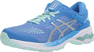 ASICS Women's Gel-Kayano 26 Running Shoes, 7.5M, Blue Coast/Pure Silver