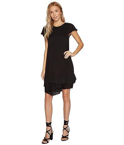 kensie Sheer Viscose Dress KS8K940S (Black) Women
