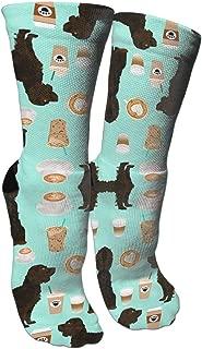 MuCunTuaZa Boykin Spaniel Coffee Compression Socks Knee High Socks for Women & Men - Best Sports, Nursing, Travel & Flight Socks
