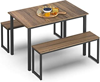 HOMURY 3 Piece Dining Table Set Breakfast Nook Dining...