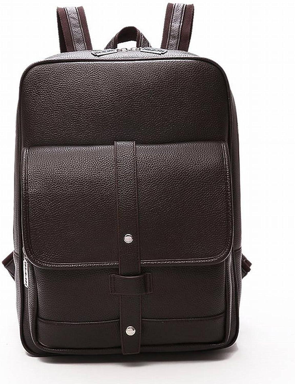 Pu-Mnner Rucksack Casual Britischen Stil Student Tasche Outdoor-Reise Bulk-Rucksack , braun