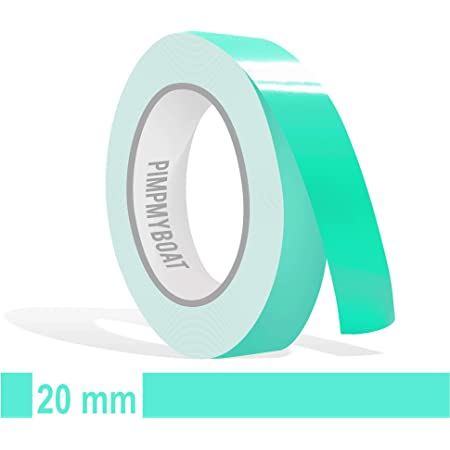Siviwonder Decorative Strips Mint Gloss 10 Mm Width And 10 M Length Film Sticker Decal For Car Boat Jetski Model Making Adhesive Tape Decorative Strips Mint Green Auto