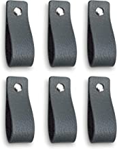 Brute Strength - Leren Handgrepen - Grijs - 6 stuks - 16,5 x 2,5 cm - incl. 3 kleuren schroeven per leren handvat voor keu...
