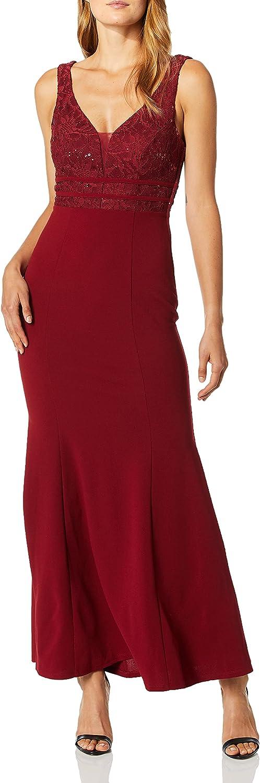 Speechless Women's Sequin Bodice Full-Length Trumpet Prom Dress