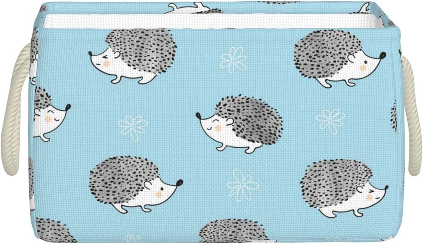 SEAL limited Price reduction product Lovely Hedgehog Collapsible Fabric with Cubes Organizer Storage