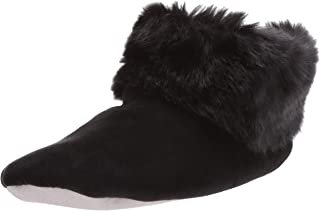 isotoner Stretch Velour and Faux Fur Sabrine Bootie House Slipper womens Slipper