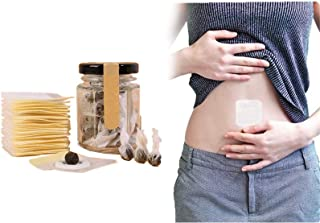 DIIIBARLORY Herbal Slimming Tummy Pellet, Unisex Moxa Navel Paste 30pcs, Weight Loss Patches Unisex for Women and Men Slim...
