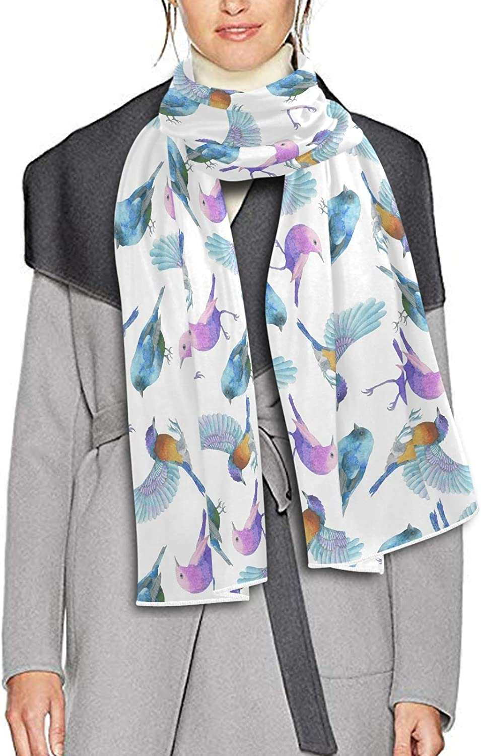 Scarf for Women and Men Bird Blanket Shawl Scarves Wraps Soft thick Winter Oversized Scarves Lightweight