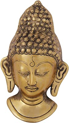 Budddha Wall Hanging Home Office Gifts Décor in Metal by Handicrafts Paradise - 8.25 inches