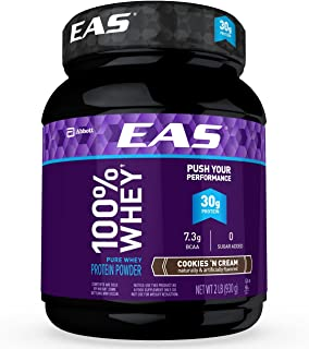 EAS 100% Whey Protein Powder Cookies & Cream 32oz, pack of 1