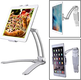 Coomaxx Kitchen Tablet Mount Stand, Adjustable Mount Desk Tablet Stand with for 4.5 to 10.5 Inch Tablet fits Nintendo Switch; Apple iPad 10. 5/9. 7, Mini, iPad Air, iPhone Xs Max, XS, XR, 8 Plus
