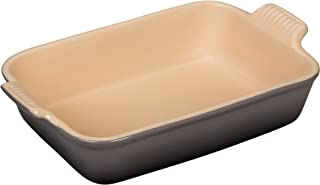 Le Creuset PG0700-267F Heritage Stoneware Rectangular Dish, 10-1/2-by-7-Inch, Oyster
