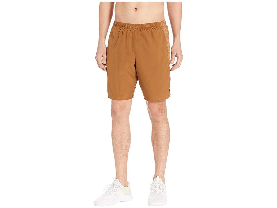 Nike Challenger Shorts 9 BF (Ale Brown/Ale Brown/Metallic Silver) Men