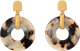 3D Double Drop Earrings