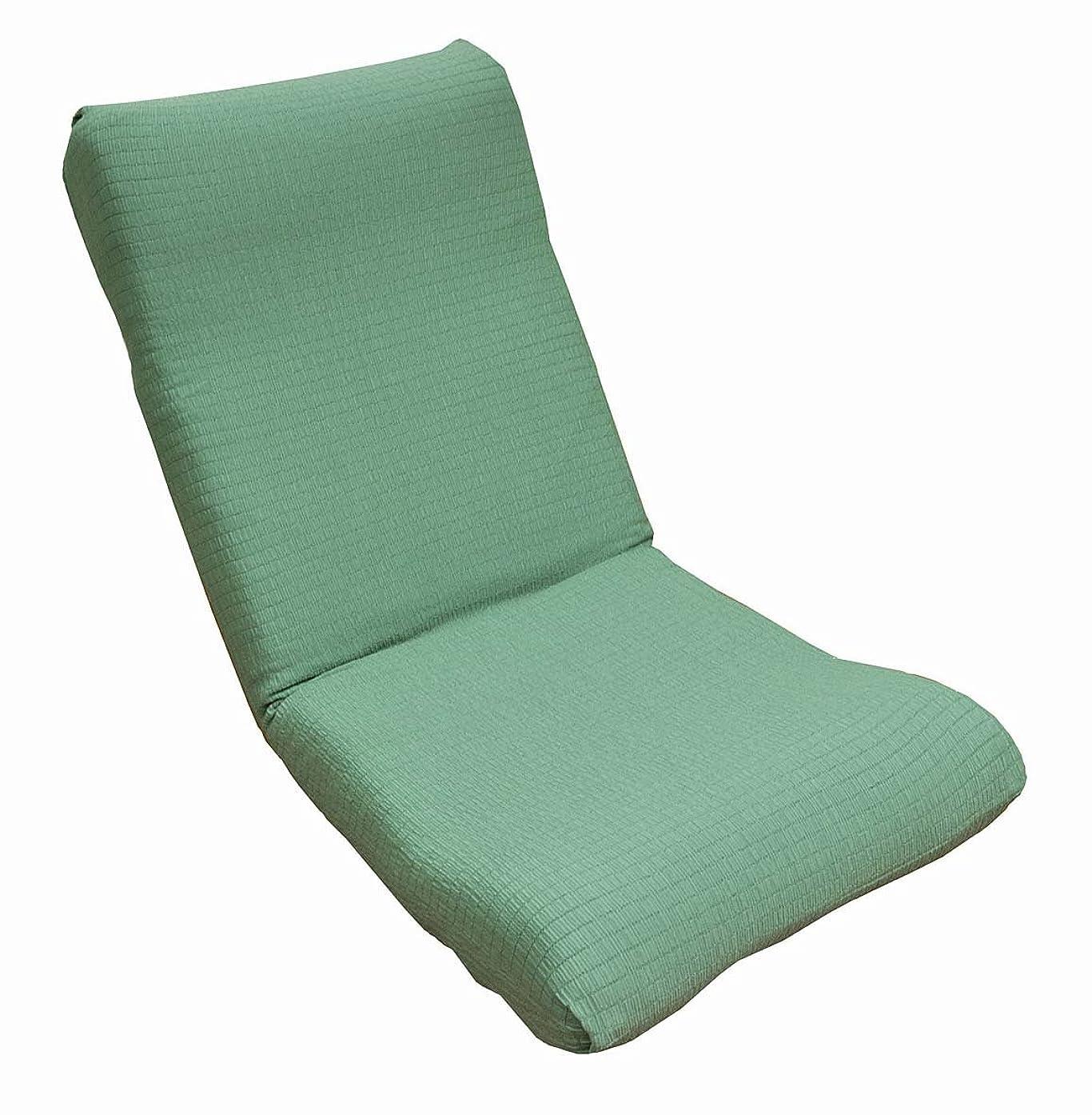 滅多植木ダーリン撥水ストレッチ座椅子カバー<ソフトグリーン> 日本製 20559ZIC-GRN