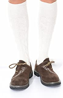 Long German Lederhosen Socks in cream